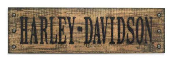 Harley-Davidson Studded Stamped Wooden Sign 35 x 10.5in, Bar Garage. 96825-16V - Wisconsin Harley-Davidson