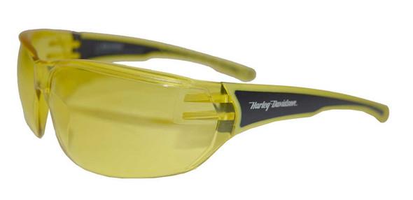 Harley-Davidson Men's Sunglasses, H-D Script, Black/ Yellow Lens HDVZ103-YLW-15 - Wisconsin Harley-Davidson