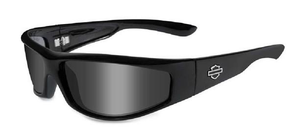 Harley-Davidson Revolvr Grey Lens w/ Gloss Black Frame Sunglasses HDREV1 - Wisconsin Harley-Davidson