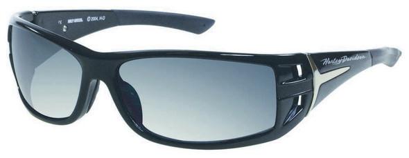 Harley-Davidson Men's Black Rounded Rectangle Grey Lens Sunglasses HDS615BLK-3F - Wisconsin Harley-Davidson