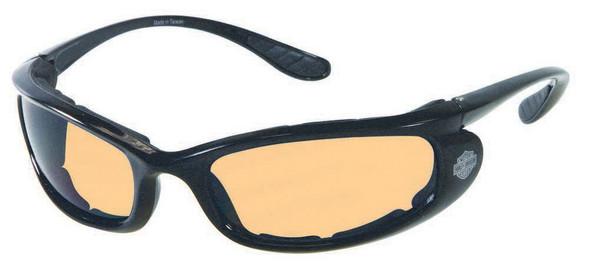 Harley-Davidson Men's Performance Stick Sunglasses BLK/Orange Lens HDSZ702BLK-14 - Wisconsin Harley-Davidson