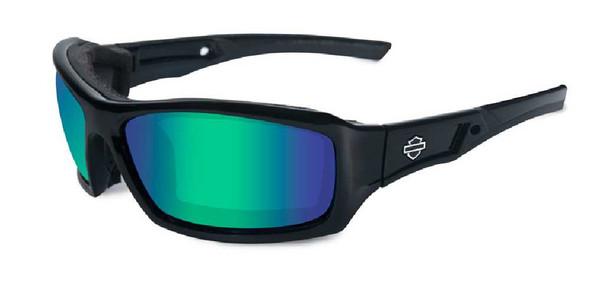 Harley-Davidson Echo Emerald Lens w/ Gloss Black Frame Sunglasses HDECH04 - Wisconsin Harley-Davidson