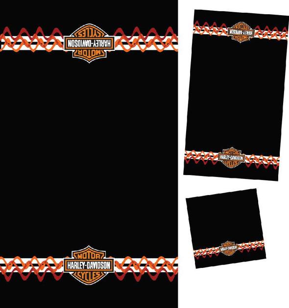 Harley-Davidson Stripes & Waves 3 Piece Towel Set 57759 - Wisconsin Harley-Davidson