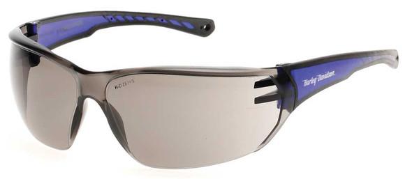 Harley-Davidson Men's Close Fit Sunglasses, H-D Script, Gray Lens & Blue Frames - Wisconsin Harley-Davidson
