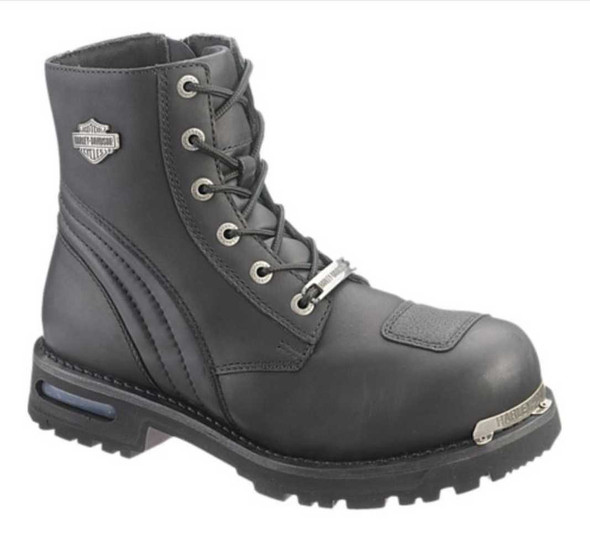 Harley-Davidson Men's Warren 8-Inch Black Motorcycle Boots. D96045 - Wisconsin Harley-Davidson