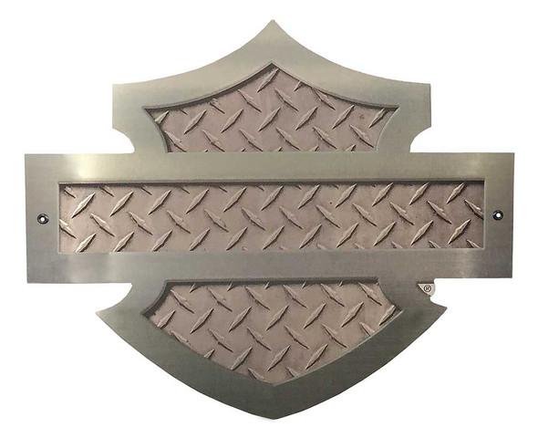 Harley-Davidson Cut Out Bar & Shield Diamond Plate Aluminum Sign AC-CU-DP-HARL - Wisconsin Harley-Davidson
