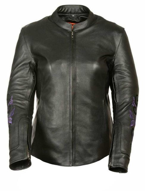 Milwaukee Leather Women's Jacket w/ Butterfly & Star Detailing ML2071 - Wisconsin Harley-Davidson
