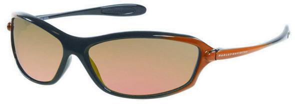 Harley-Davidson Men's Black to Orange with Orange Lens Sunglasses HDS614BKOR-83F - Wisconsin Harley-Davidson