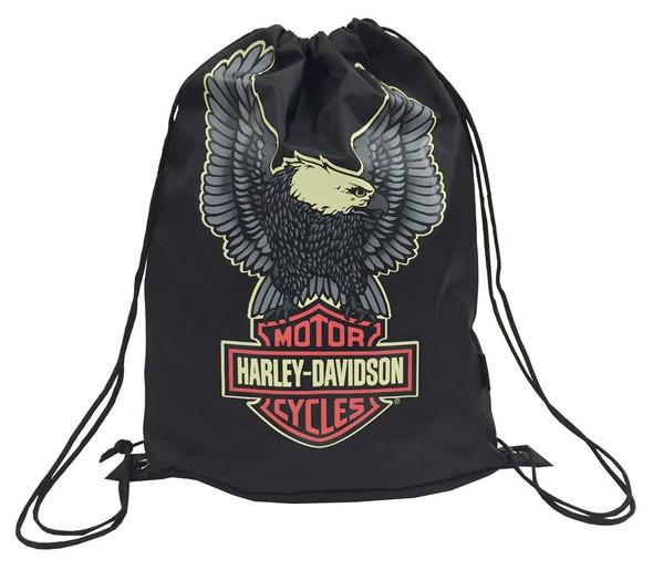 Harley-Davidson Boys' Up-Wing Eagle Bar & Shield Sling Backpack, Black 7180501 - Wisconsin Harley-Davidson