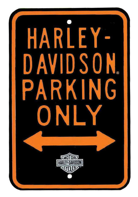 Harley-Davidson Parking Only Street Sign 12 x 18 Inches  10902091 - Wisconsin Harley-Davidson