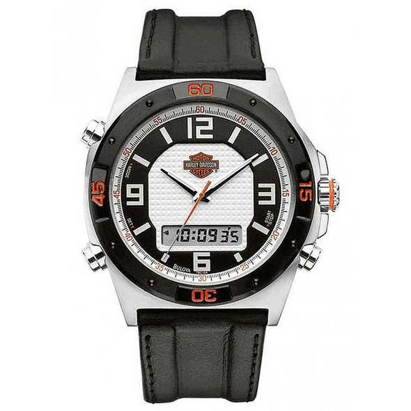 Harley-Davidson Men's Bulova Chronograph Wrist Watch 78C104 - Wisconsin Harley-Davidson