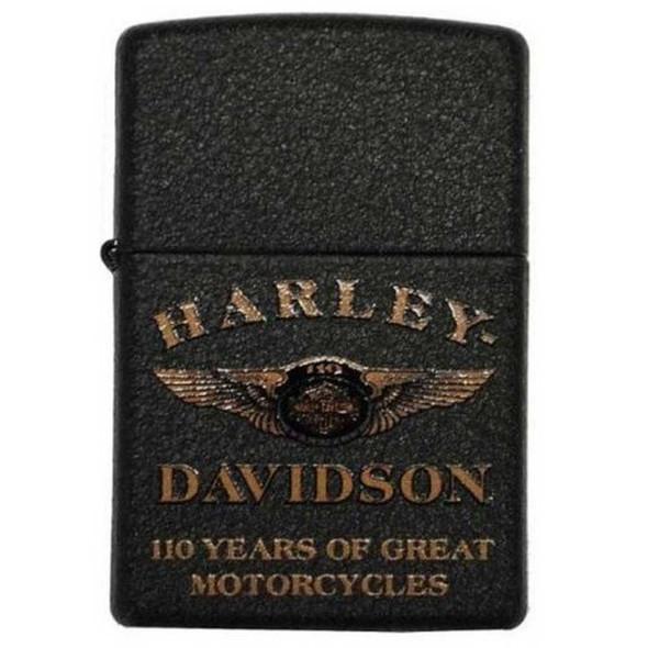 Harley-Davidson 110th Anniversary Limited Edition Zippo Lighter Black 28417 - Wisconsin Harley-Davidson