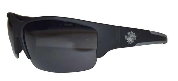 Harley-Davidson Men's Sunglasses, Bar & Shield, Black Frame & Lens HDS624-BLK-3F - Wisconsin Harley-Davidson