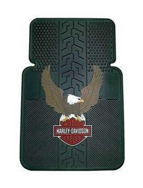 Harley-Davidson Bar & Shield Eagle Universal-Fit Front Floor Mats, Set of 2 P140 - Wisconsin Harley-Davidson