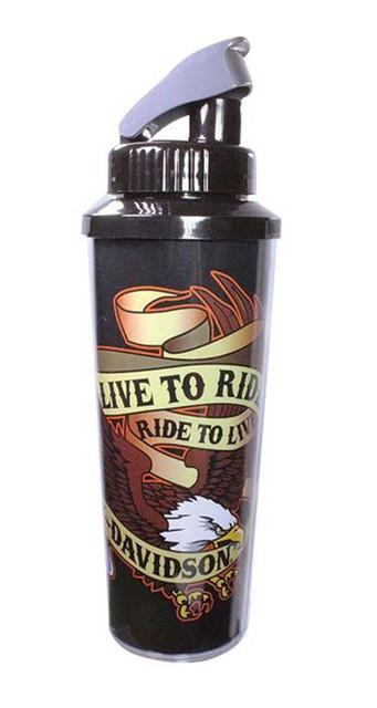 Harley-Davidson Live To Ride Eagle Sports Water Bottle 20 oz. CB00930 - Wisconsin Harley-Davidson