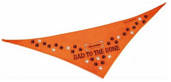 Harley-Davidson Bad To The Bone Petite Pet Bandana 17'' Orange H2301-H-OB117 - Wisconsin Harley-Davidson