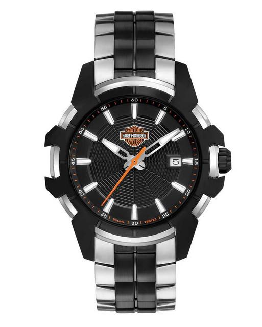 Harley-Davidson Men's Bulova Spider Web Bracelet Wrist Watch 78B124 - Wisconsin Harley-Davidson