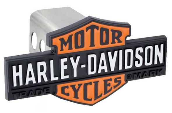 Harley-Davidson Long Orange Bar & Shield Trailer Hitch Cover 2'' HDHC86-K - Wisconsin Harley-Davidson