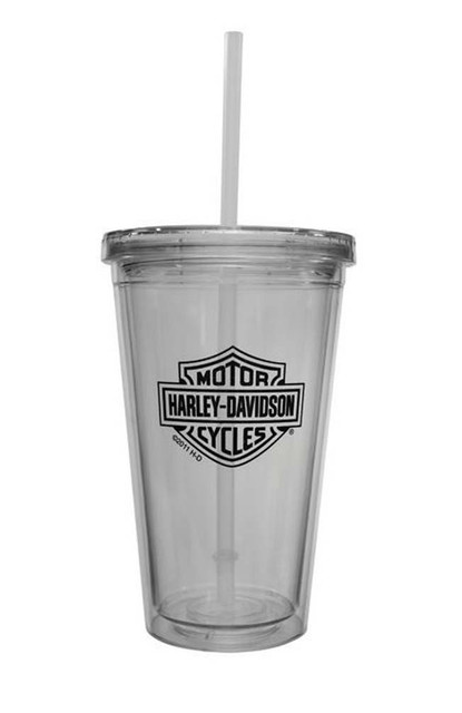 Harley-Davidson Bar & Shield Auto Mug With Straw, 16 oz. MG30271 - Wisconsin Harley-Davidson
