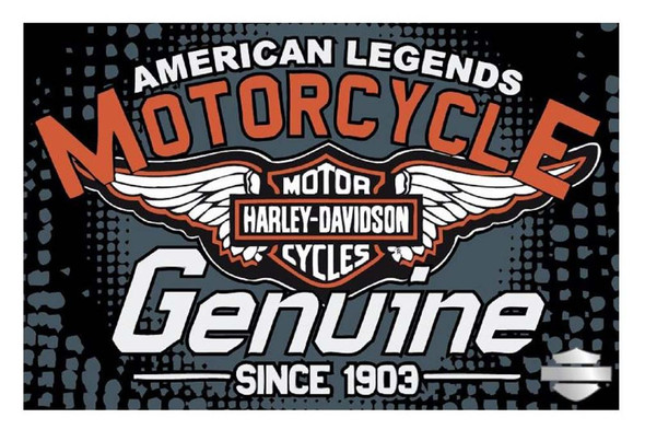 Harley-Davidson 39 x 59 Hardcore Tufted Rug, Non Skid Backing NW512153 - Wisconsin Harley-Davidson