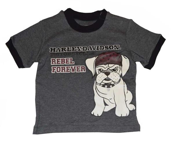 Harley-Davidson Baby Boys' T-Shirt, Rebel Bulldog Short Sleeve Tee 4351550 - Wisconsin Harley-Davidson