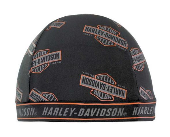 Harley-Davidson Long Bar & Shield Skull Cap Black SK31330 - Wisconsin Harley-Davidson