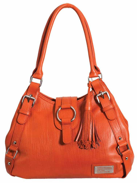 Harley Davidson Womens Orange All Bark Bucket Bag AB7701L-ORG - Wisconsin Harley-Davidson