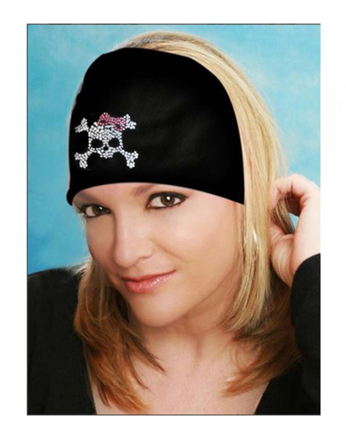 That's A Wrap Women's Bling Knotty Band, Embellished Skull Bow, Black KB2921 - Wisconsin Harley-Davidson