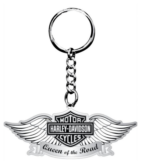 Harley-Davidson Key Chain, Silver Wings Queen of the Road, Silver KY120206 - Wisconsin Harley-Davidson