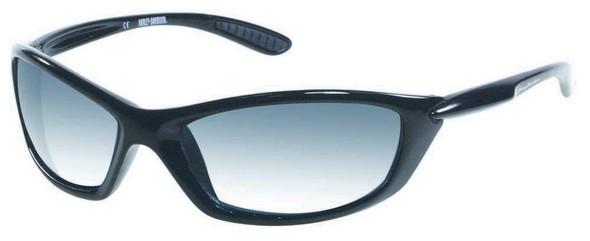 Harley-Davidson Men's Lifestyle Shiny Black w/Grey Lens Sunglasses HDS616BLK-3 - Wisconsin Harley-Davidson