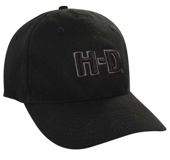 Harley-Davidson H-D Logo Black Baseball Cap BC111730 - Wisconsin Harley-Davidson