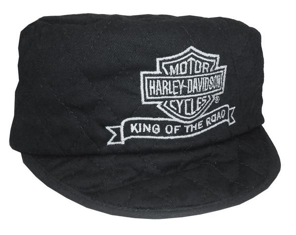 Harley-Davidson Men's Welder's Cap, King Of The Road, Black SM/MD WC1203302 - Wisconsin Harley-Davidson