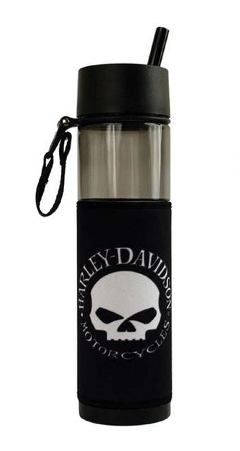Harley-Davidson Hubcap Skull Slim Sport Plastic Water Bottle SL102930 - Wisconsin Harley-Davidson