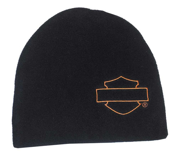 Harley-Davidson Little Boys' Beanie, Tech Polar Fleece Cap, Blk 3370392 (2T/4T) - Wisconsin Harley-Davidson
