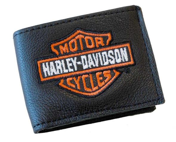 Harley-Davidson Embroidered Kids Bar & Shield Little Billfold Wallet Black B307H - Wisconsin Harley-Davidson