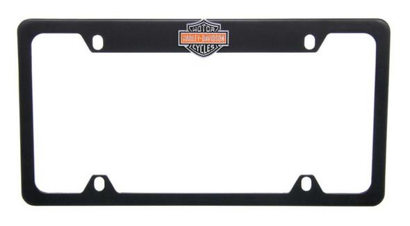 Harley-Davidson Orange Bar & Shield License Plate Frame Matte Black HDLFZKE15-U - Wisconsin Harley-Davidson