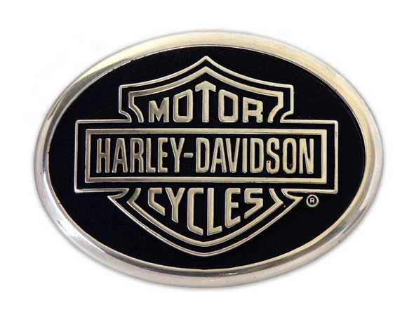 Harley-Davidson Men's Classic Bar & Shield Belt Buckle Black/Chrome HDMBU10069 - Wisconsin Harley-Davidson
