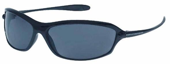 Harley-Davidson Mens Kickstart Sunglasses Shiny Black Dark Grey Lens HDV003BLK-3 - Wisconsin Harley-Davidson