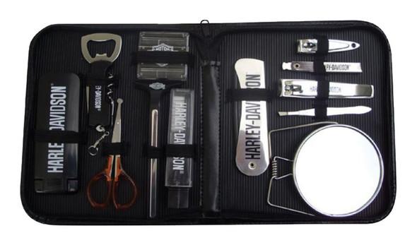 Harley-Davidson Manicure Set, Includes 12 Travel Accessories, Black BG30230 - Wisconsin Harley-Davidson