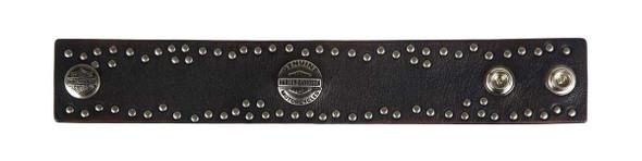 Harley-Davidson Mens Twisted Studded Wrist Bracelet Cuff HDMCU10314 - Wisconsin Harley-Davidson