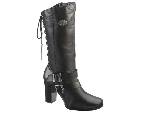 Harley-Davidson Women's Shelia 11.5-Inch Black or Brown High Heel Boots. D83680 - Wisconsin Harley-Davidson
