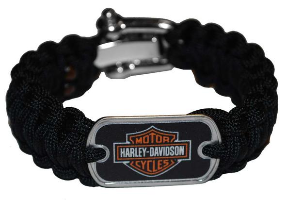Harley-Davidson Survival Bracelet Strap Steel Shackle Size 8'' 201106776 - Wisconsin Harley-Davidson
