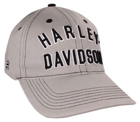 Harley-Davidson Archetype Light Gray Baseball Cap BC128554 - Wisconsin Harley-Davidson