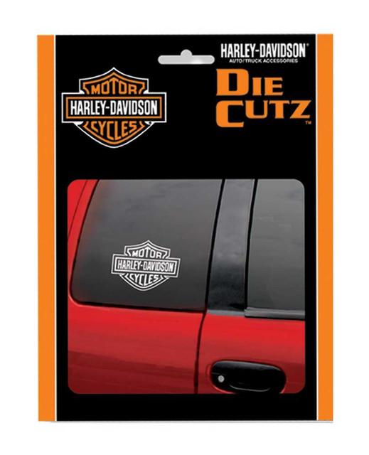 Harley-Davidson Bar & Shield White Die Cutz Window Decal, 4 x 5.1 Inch CG3614 - Wisconsin Harley-Davidson