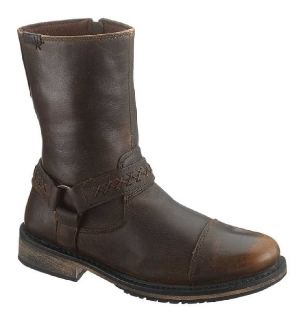 Harley-Davidson Men's Constrictor Brown Leather Motorcycle Boots, Zipper D95277 - Wisconsin Harley-Davidson