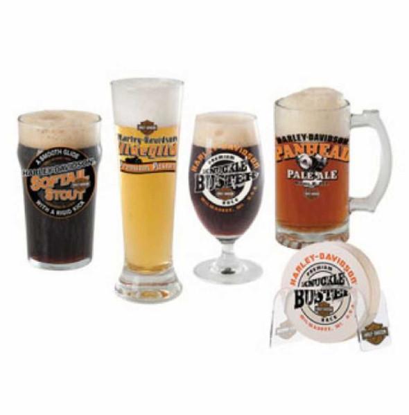 Harley-Davidson Craft Beer Glass Gift Set, 4 Glasses HDL-18715 - Wisconsin Harley-Davidson