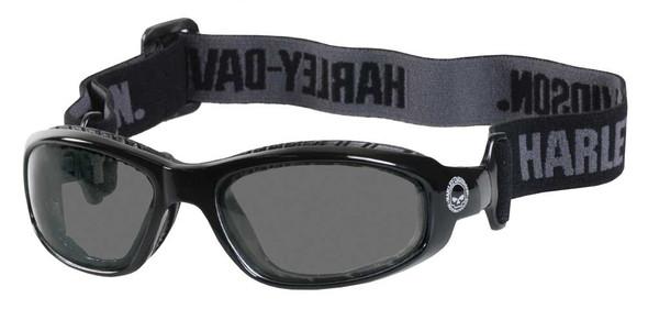 Harley-Davidson Mens Glide Goggle, Adjustable Head Strap, Gray Lens/Black Frame - Wisconsin Harley-Davidson
