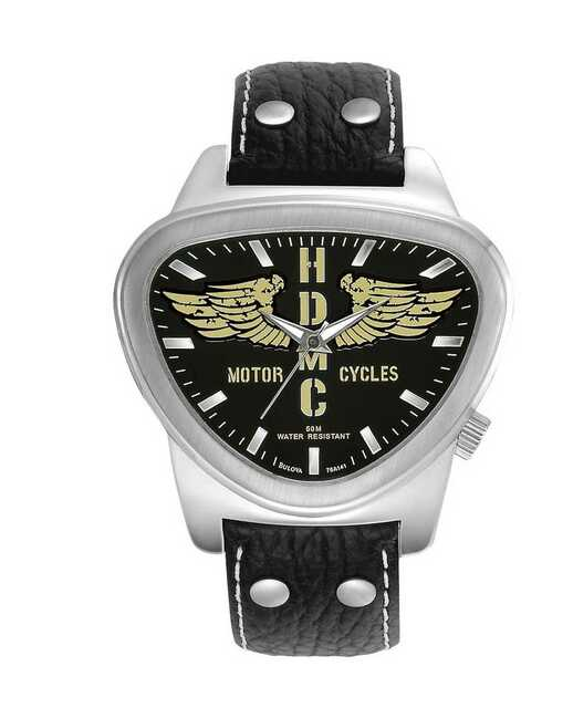 Harley-Davidson Men's Bulova HDMC Wings Wrist Watch 76A141 - Wisconsin Harley-Davidson