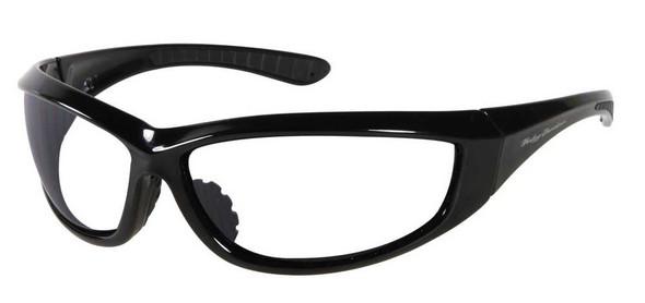 Harley-Davidson Men's Sun Lifestyle Black w/Clear Lens Sunglasses HDS609BLK-22 - Wisconsin Harley-Davidson