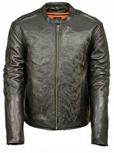 Milwaukee Leather Men's Reflective Skeleton Bones Jacket ML2075 - Wisconsin Harley-Davidson